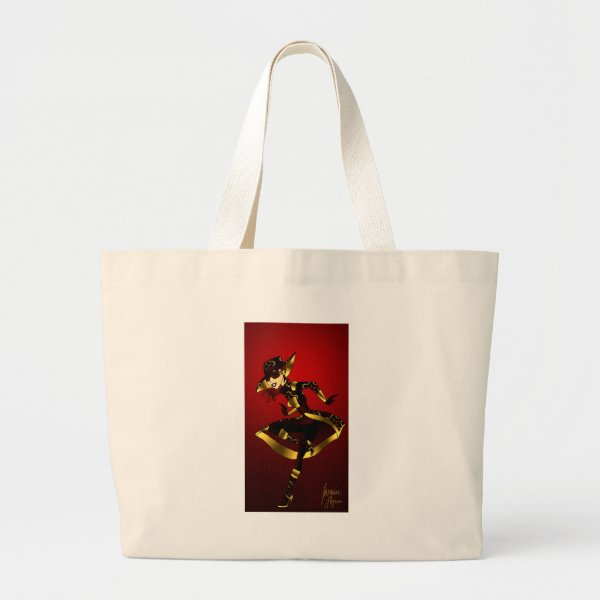 Bold in Red and Gold Large Tote Bag