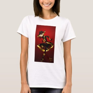 jasmineflynn Bold in Red and Gold T-Shirt