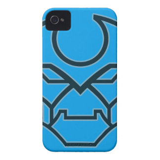 Bold Industrial Geometric Robot Face Symbol iPhone 4 Case