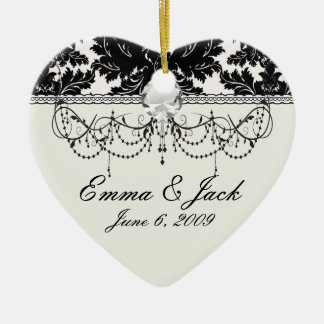 bold intricate black damask on white ornaments