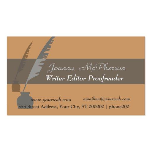 Bold Journalist Writer Editor Business Card Template : Zazzle