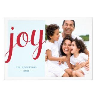 """Bold Joy   Holiday Photo Card 5"""" X 7"""" Invitation Card"""