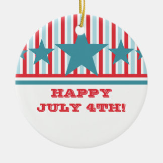 Bold July 4th Stars and Stripes Ornament