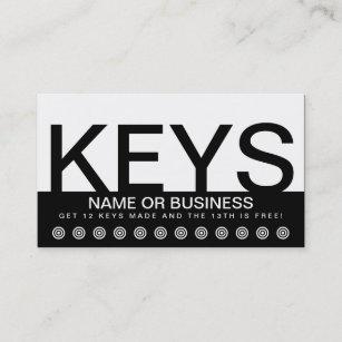 Key maker business cards templates zazzle bold keys customer loyalty card reheart Images