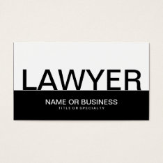 Bold Lawyer Business Card at Zazzle