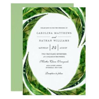 Bold Leaves Wedding Invitation | Light
