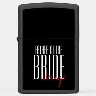 "Bold Letters ""Father of the Bride"" Personalized Zippo Lighter"