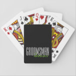 "Bold Letters ""Groomsman"" Custom Wedding Party Playing Cards<br><div class=""desc"">Personalized gifts for your wedding party.</div>"