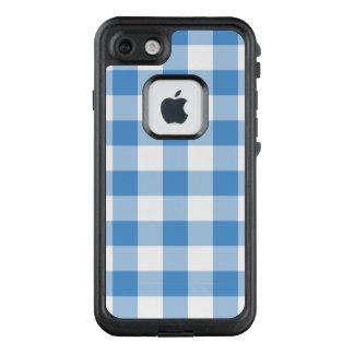 Bold Light Blue and White Buffalo Plaid LifeProof FRĒ iPhone 7 Case