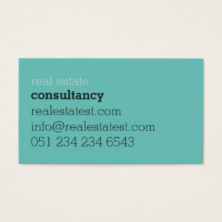 Bold light regular business card