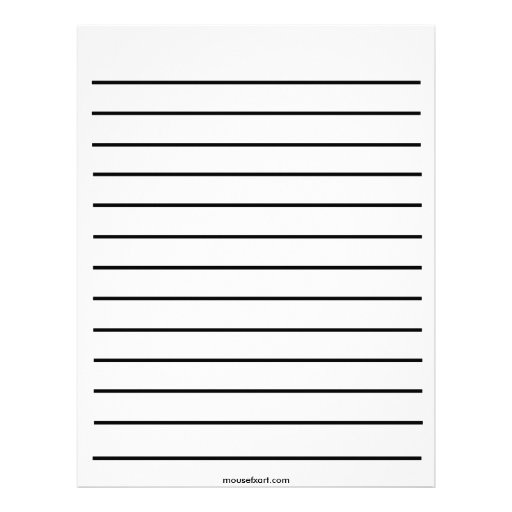 Bold Line Writing Paper Customized Letterhead | Zazzle