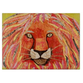 Bold Lion Decorative Glass Cutting Board