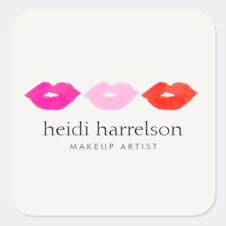 Bold Lips Trio Watercolor Beauty Stickers