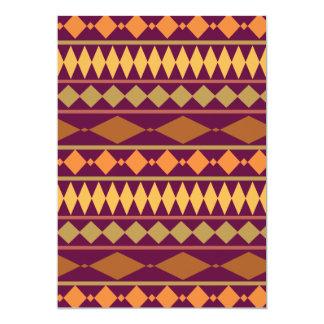 Bold Magenta Rust Tribal Geometric Pattern 5x7 Paper Invitation Card