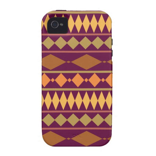 Bold Magenta Rust Tribal Geometric Pattern Case-Mate iPhone 4 Covers