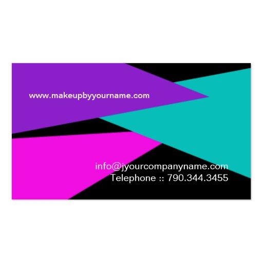 BOLD MAKEUP ARTIST BUSINESS CARD (back side)