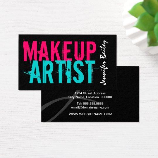 Makeup artist business cards zazzle bold makeup artist business card reheart Gallery
