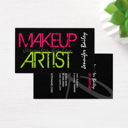 bold makeup artist business card zazzlecom