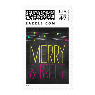 Bold Merry and Bright Postage
