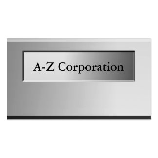 Bold Metal Look Name Plate Business Cards