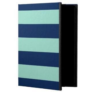 Bold Mint Green and Dark Blue Stripes Powis iPad Air 2 Case