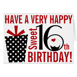Sweet 16 birthday cards gangcraft happy sweet greeting cards zazzle birthday card bookmarktalkfo Choice Image