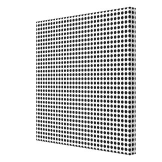 Bold Modern Black and White Polka Dots Geometric Canvas Print