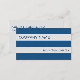 Bold Modern Blue Gray Stripes Business Card