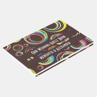 Bold Modern Circles Wedding Guest Book