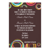 Bold Modern Circles Wedding Invitations