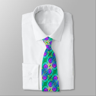 Bold modern colorful abstract design neck tie