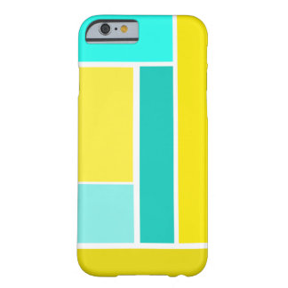 Bold Modern Geometric Pattern in Blue and Yellows Barely There iPhone 6 Case