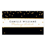 BOLD modern gold glitter confetti pattern black Double-Sided Standard Business Cards (Pack Of 100)