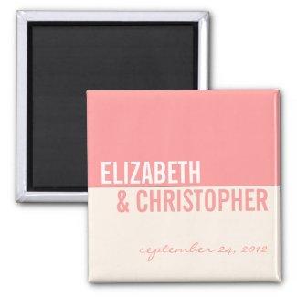 Bold Modern Graphic Block Wedding Favor Magnet zazzle_magnet