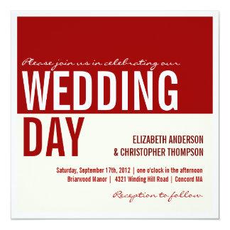 Bold Modern Graphic Block Wedding Invitation