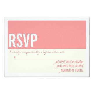 Bold Modern Graphic Block Wedding RSVP Card