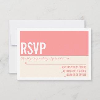 Bold Modern Graphic Block Wedding RSVP Card zazzle_invitation