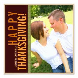 Bold Modern Graphic Thanksgiving Photo Card