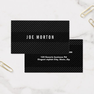 Bold modern masculine black and gray professional business card