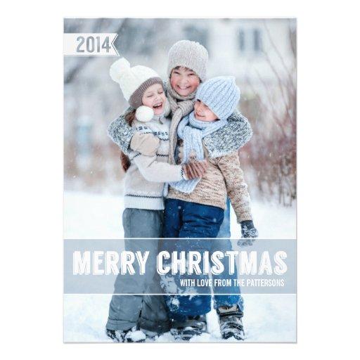 Bold Modern Merry Christmas Big Photo Card
