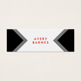 Bold Modern Minimalist Black and White Networking Mini Business Card