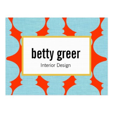 Bold Modern Pattern Designer Postcard