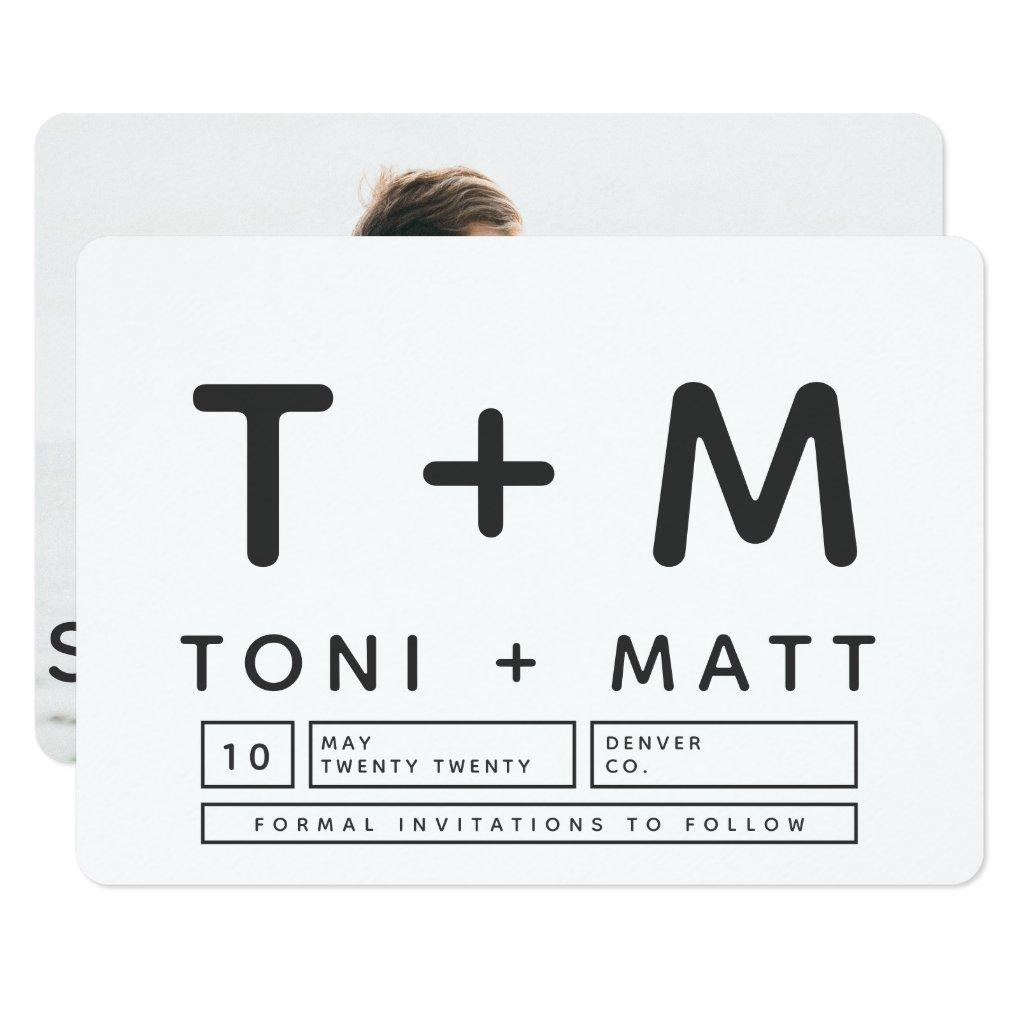 BOLD MODERN SAVE THE DATE CARD