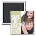 Bold Modern Save the Date Photo Magnet