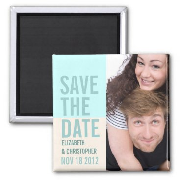 Beach Themed Bold Modern Save the Date Photo Magnet