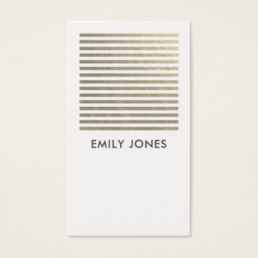 Professional Business BOLD MODERN SILVER FAUX WHITE STRIPED LINE PATTERN BUSINESS CARD