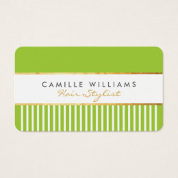 Green and gold business cards templates zazzle bold modern stylish comb design gold lime green business card reheart Images