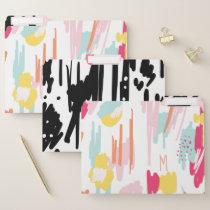 Bold Modern Trendy Abstract & Artistic Stroke File Folder