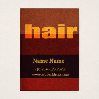 Bold Modern Typography Hair Salon Salons Business Card