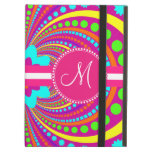 Bold Monogram Funky Pattern Hot Pink Design iPad Covers